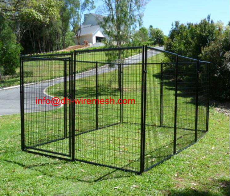 heavy duty metal dog run kennel dog run fence panel With metal dog kennel and run