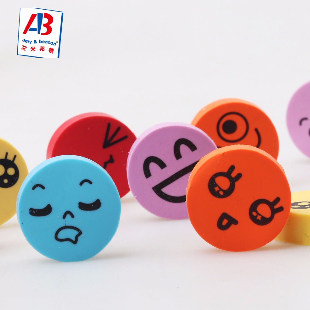 Funny Party Favor Give Aways Gift Item Emoji Erasers Set for Children