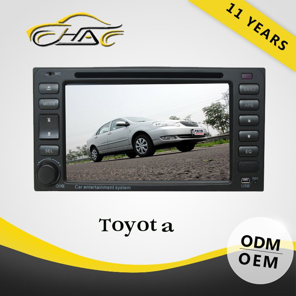 gps car 6.2 inch universal double din auto radio car dvd for toyota