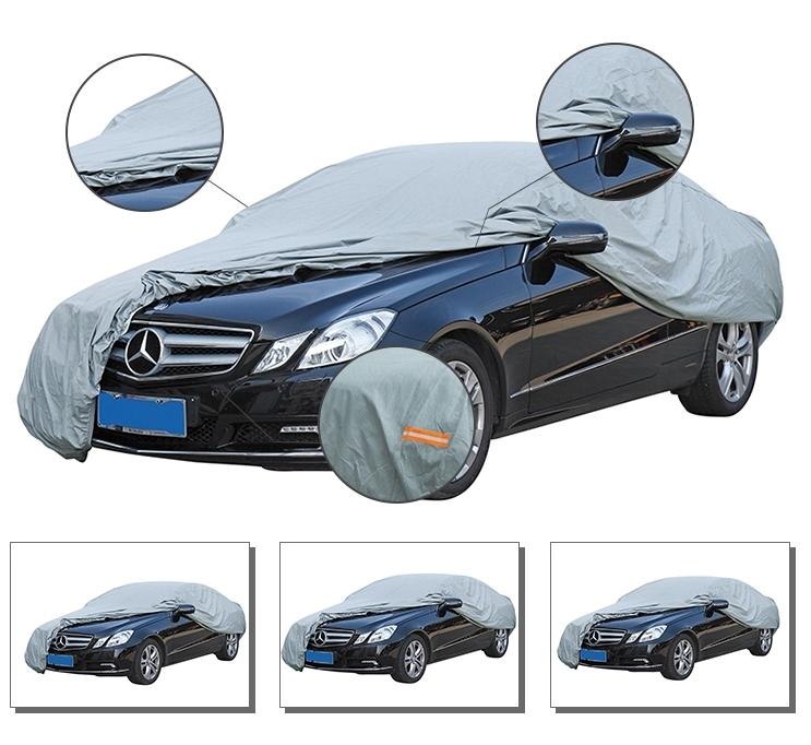 Ağır su geçirmez araba örtüsü araba cam kar kapakları