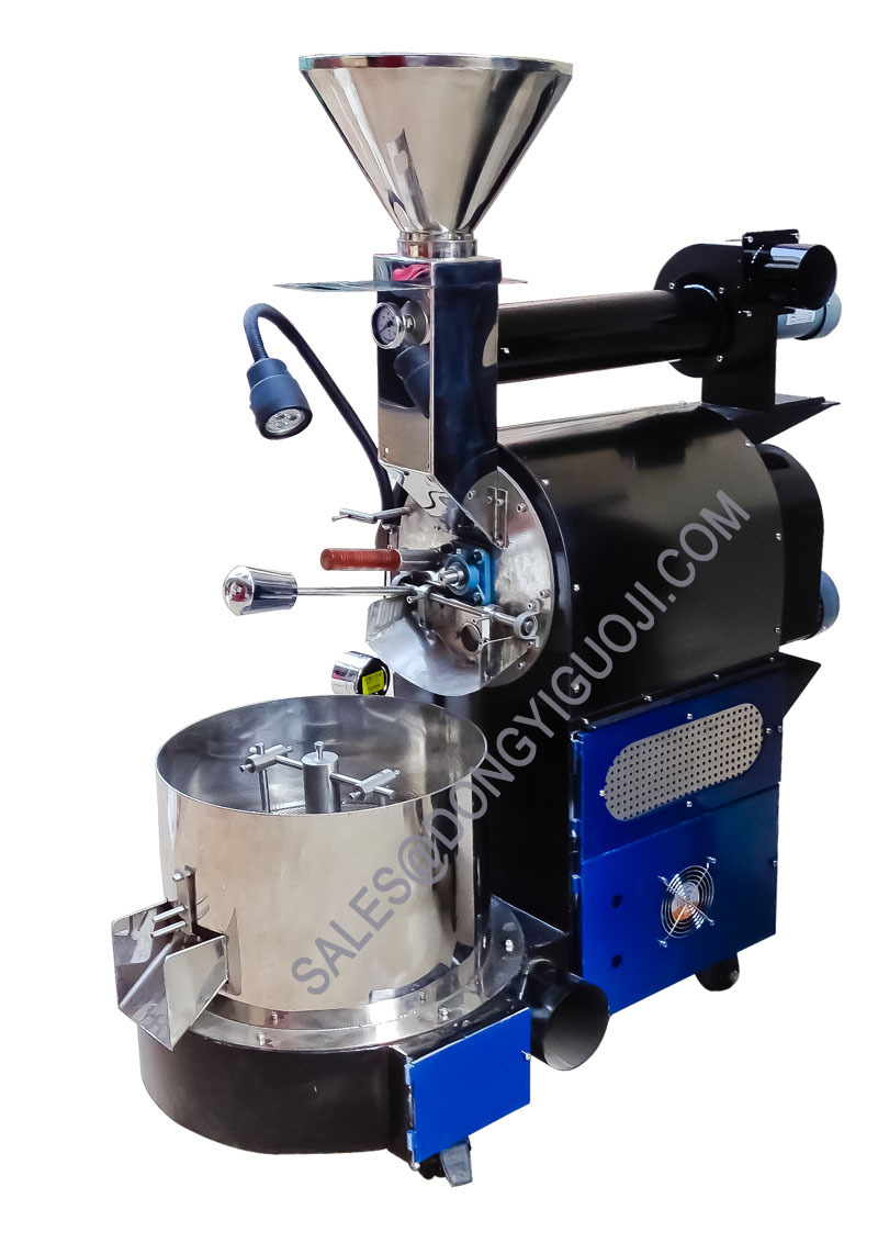 rotary drum coffee roasting machines 3kg 5kg 6kg for sale/small shop coffee  roaster price, View rotary drum coffee roaster, Dongyi Product Details