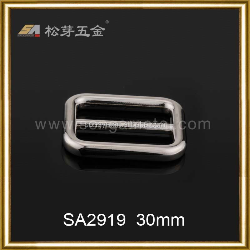 High quality Dongguan supplier double d ring ide strap buckle belt buckles