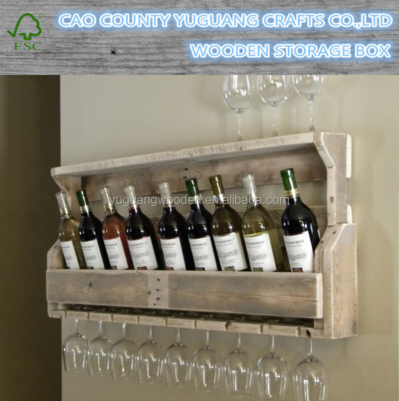 Unique Reclaimed Wooden Wine Rack, Christmas Gifts for Boyfriend