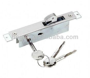 Cerradura para puerta corrediza de hierro