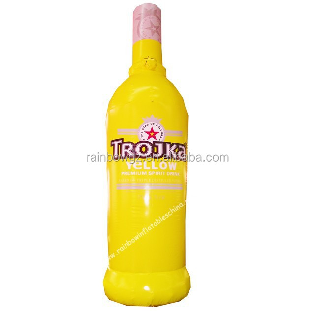 Yellow giant inflatable liquor beer bottle
