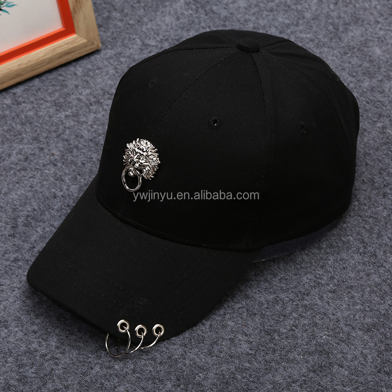 Lion Head Embroidery Baseball Sports Cap Hat Custom knitting Net hat CH021