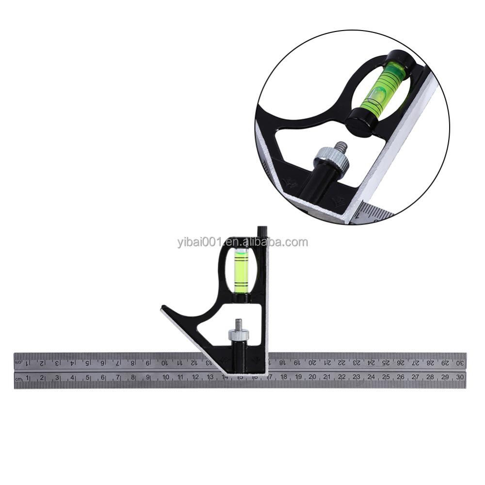 300mm Einstellbare Ingenieure Kombination Versuchen Platz Set Rechten Winkel Herrscher 12