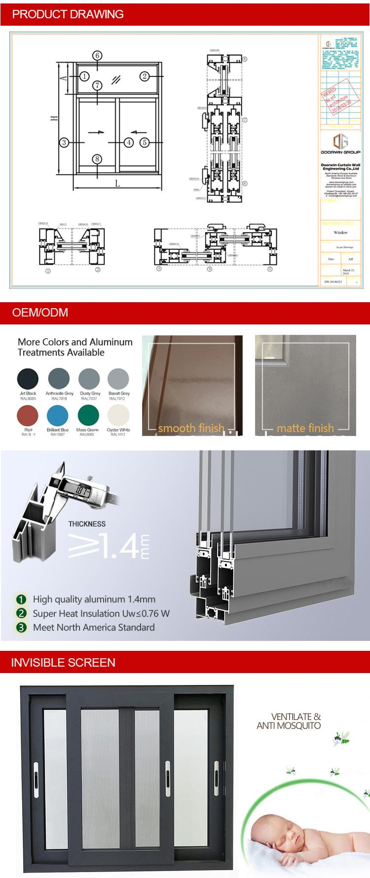 Anodized aluminum sliding Windows and door frame doors AS2047 Alloy
