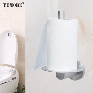 metal home decor stainless steel under cabinet paper towel holder toilet roll dispenser standing toilet paper holders