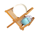 Collapsible Bamboo Dish Rack or Holding Plate Holder of china supplier