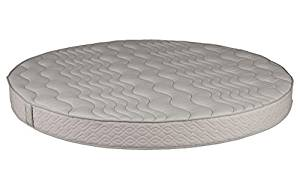 """Round Foam Mattress (86"""" Diameter) with Quilted Cover 10"""" Height - High Density Premium Foam - Longlasting (7-10 Yrs) Polyurethane Upholstery Foam - Round Bed Mattress by Dream Solutions USA"""