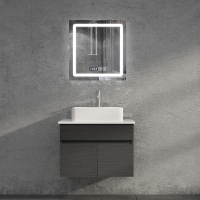 LED mirror bathroom vanity,Black bathroom cabinet,vanity cabinet used in bathroom