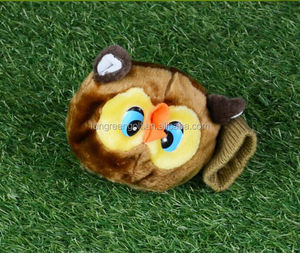Hot Sale 460CC golf club head cover plush animal knitted golf head cover