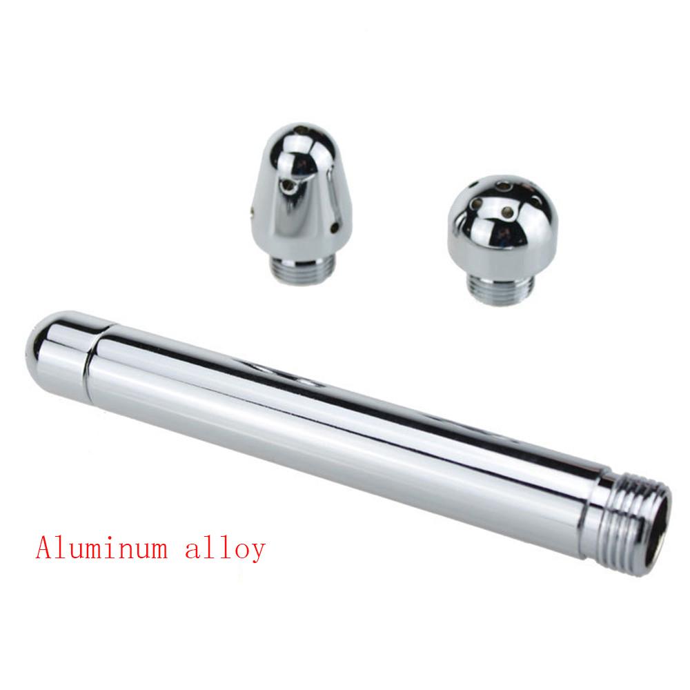 Metall Butt Plug Anal Dusche Einlauf Rohr Wasser Düse 3