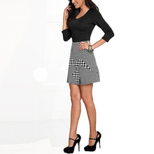 China Manufacturers Houndstooth Latest Formal Skirt Blouse Patterns For Ladies