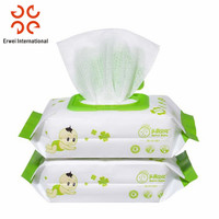 Natural baby wet tissue viscose green tea wet wipes