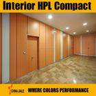 6mm8mm10mm HPL phenolic board for hospital interior wall decor