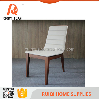 Natural Paint Wooden Legs White Leather Leisure Chairus Leisure Low