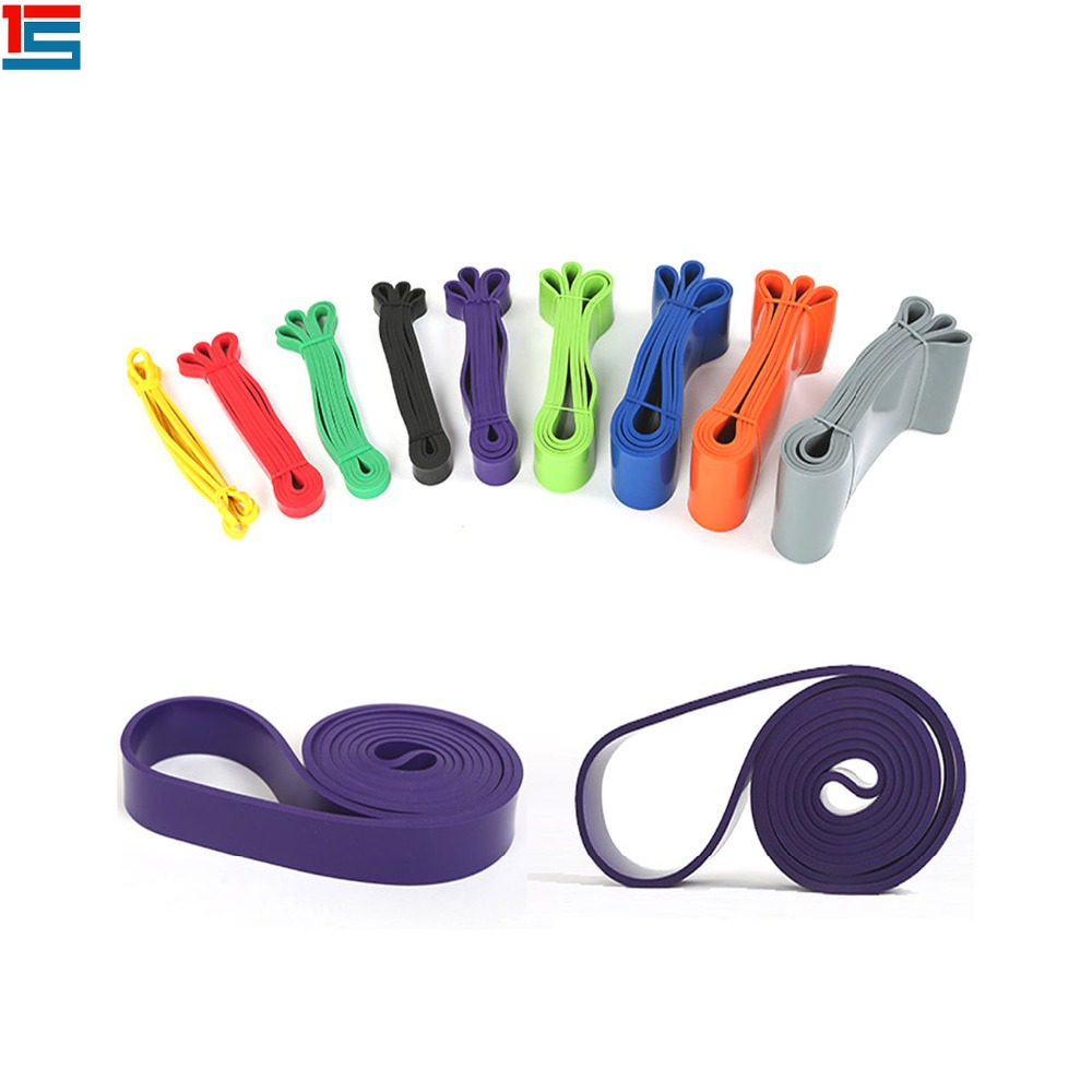 Wholesale 11pcs fitness resistance bands exercise fitness latex tube yoga workout gym sports bands