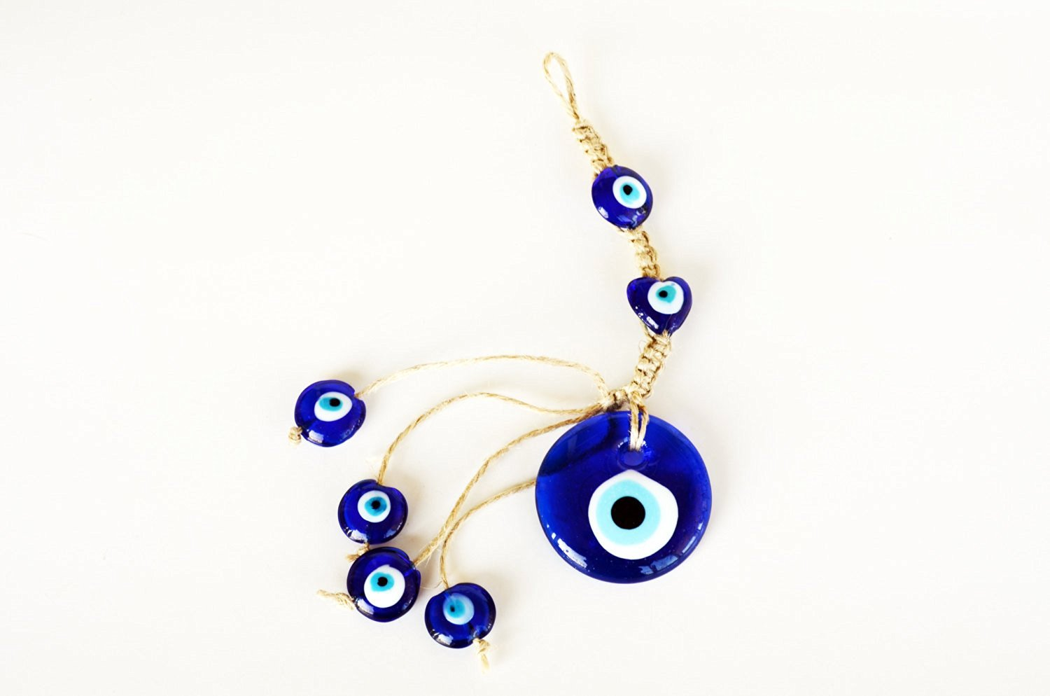 Get Quotations · Evil Eye Wall Hanging Charm Protection , Turkish Evil Eye  Home Decor For Good Luck