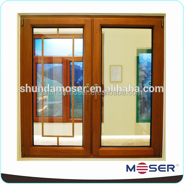 Window Blind casement window blinds : Decorative Oak Wood Double Pane Casement Window With Blinds For ...