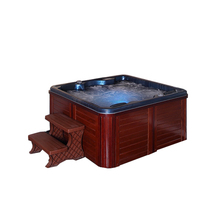 SM190 Acryl Balboa system 1600mm große freistehende <span class=keywords><strong>bad</strong></span> swim jet mit holz ps rock massage spa badewanne