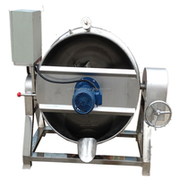 vertical type electric heat tilting milk cooking mixer machinery jacketed kettle for sale