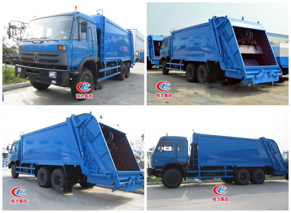 Heavy Duty 6x4 Dongfeng Garbage Compactor Truck China Waste ...