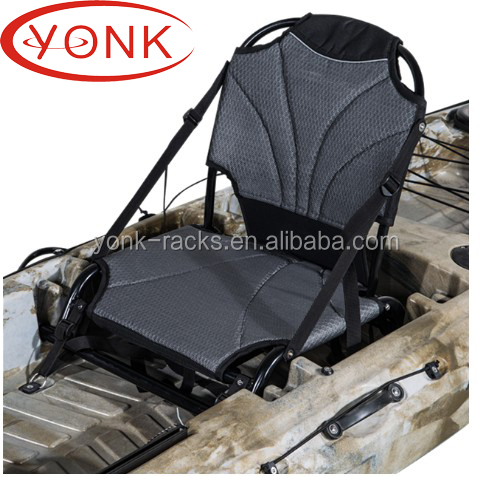 China Ningbo YONK hot selling direct factory portable folding kayak chair kayak seat with heavy duty aluminum frame