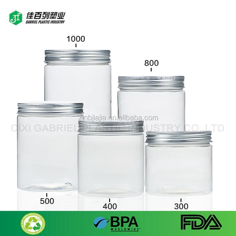 9oz 260ml square small sample plastic travel food candy cookie bottles container with lid