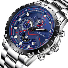 Classic Best Seller Dress Waterproof Bands Chronograph Chain Steel Men s Wrist Watch