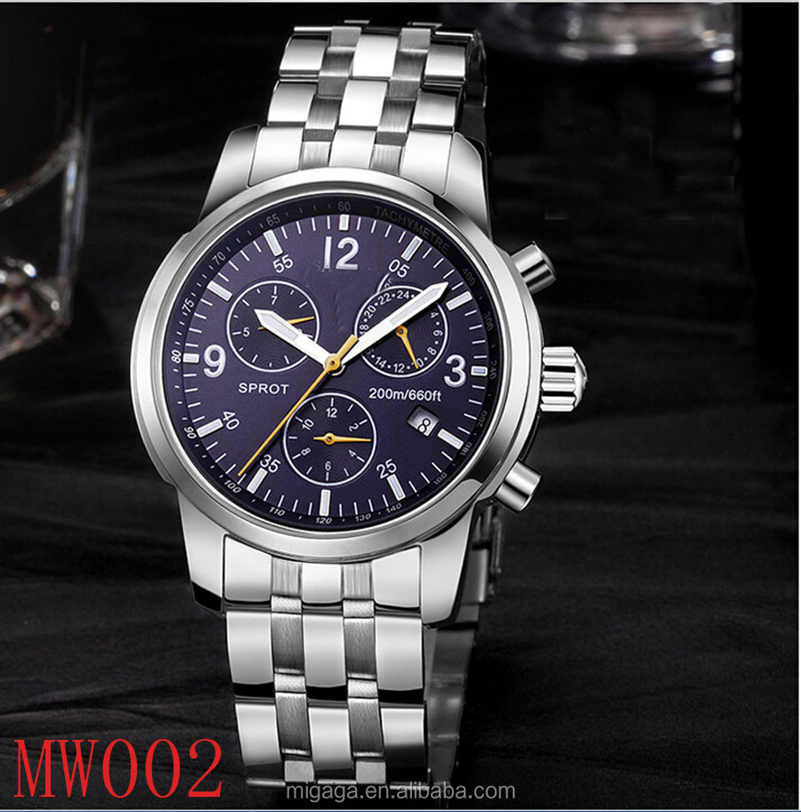 20 ATM water resistant Trendy western popular stainless steel case 316L sapphire glass mens luxury watch automatic