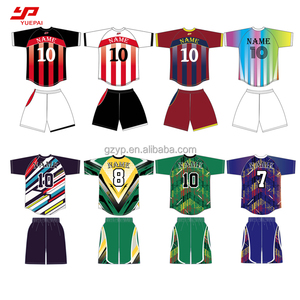Best quality yellow red green blank pink football jersey sublimation soccer uniform