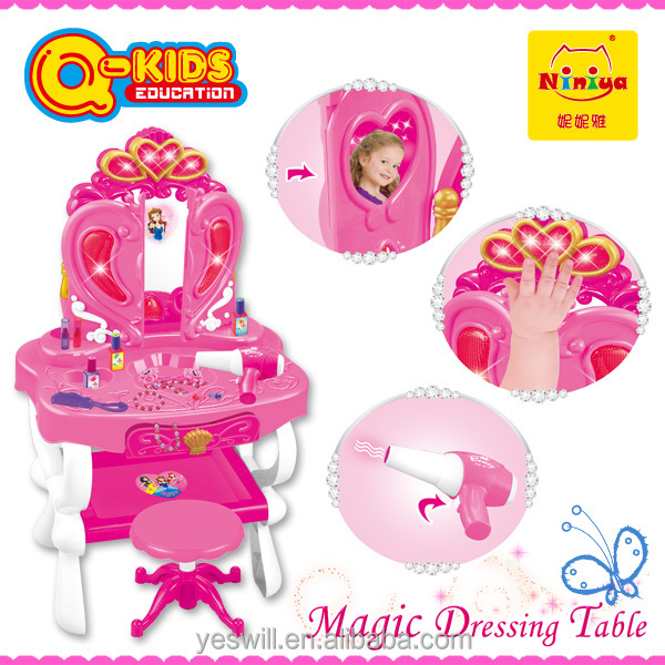 2015 new plastic makeup set toy with induction door