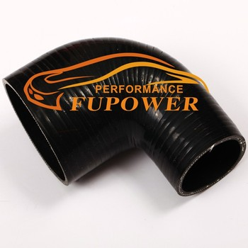 """Black 2.75/"""" to 2.5 Inch 90 degree Silicone Elbow Intercooler Reducer Pipe"""