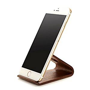 iPhone Wood Stand, Beeiee Cell Phone Wood Stand Holder for iPhone 6 6s,iPhone 7 (Walnut)