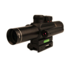 ANS M6 4X25EG Rifle scope Red/Green Illuminated Hunting Rifle Scope with 20mm Mount and red laser