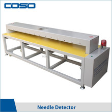 Digital wide tunnel needle detector for textile/garment/shoes/bedding article