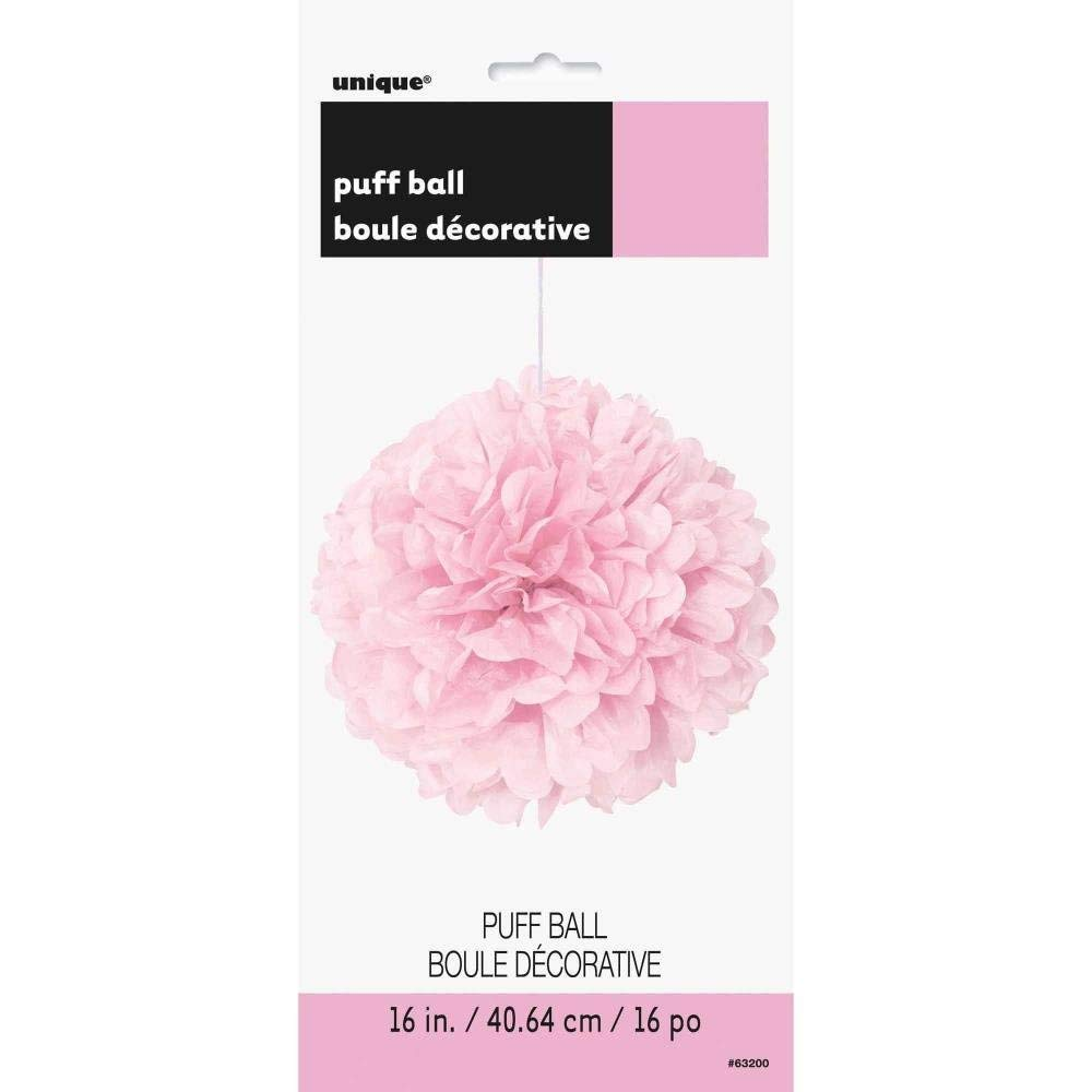 "16"" Light Pink Tissue Paper Pom Pom"