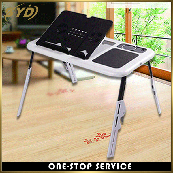 Multi function mini laptop desk studence foldable computer desk with cooling pad