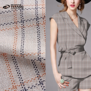 Good service custom design woven german print wholesale plaid fabric for make shirts