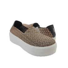 2016 woven elastic bronzed weave shoe made by hand