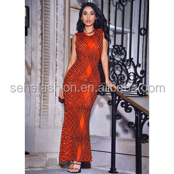 SM74816 Club wears Factory cheap Wholesale african clothes sexy sequins evening dress for women