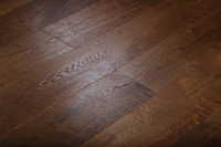 Stained and Wire Brushed Oak Engineered Wood Flooring