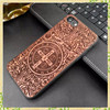 New arrival promotional 2017 TPU wood material phone case for iphone 7