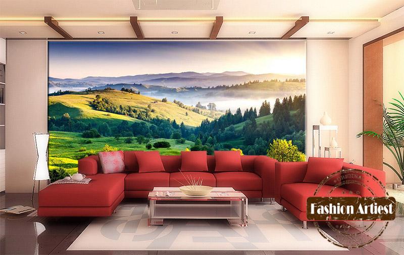 Aliexpress.com : Buy Custom 3d Grassland Forest Wallpaper