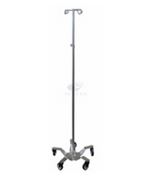 AG-IVP001 with four drip hooks metal frame hospital iv drip stand