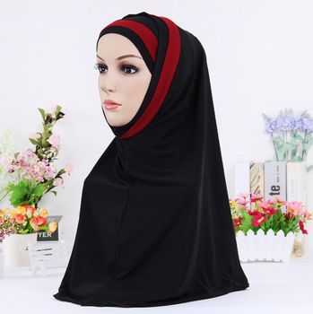 Muslim Hijab Islamic Jersey Turban Women Black Under Scarf Caps Bone Bonnet Ninja Hijab Head Scarf Full Cover Inner Hijab Cap