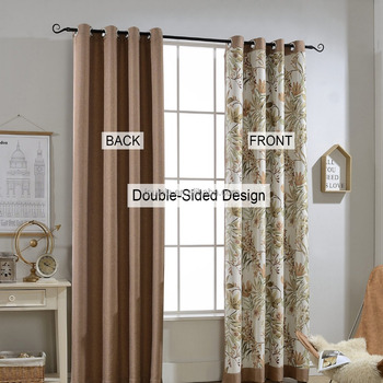 Ready Made Curtain for bedroom Double Face Usage blackout window treatments panels For Kids, Nursery, Woman, Patio,Bedroom