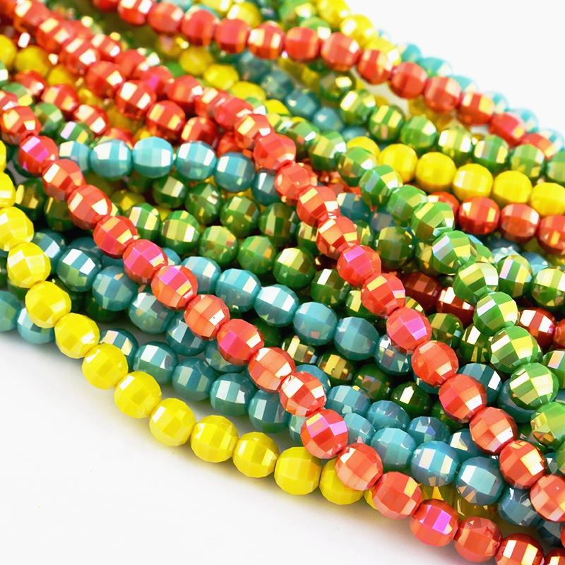 Lanterne Scaldfish Perles De Cristal Opaque Couleurs Bracelet En Verre Perles Pour La Fabrication De Bijoux